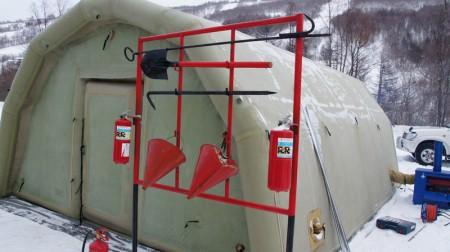 Учения по снежным заносам