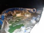 Обледенение палубы спасательного катера