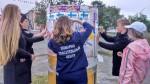 п.Ола. Волонтеры помогают пожарным 2018г.